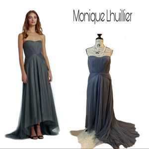 Gorgeous MH Pleat Tulle Strapless Gown